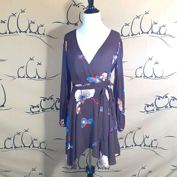 Urban Outfitters Ecote Wrap Mini Dress